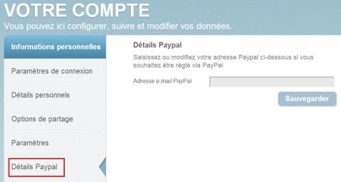 Détails Paypal