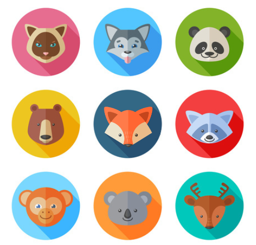 wild animals - avatars